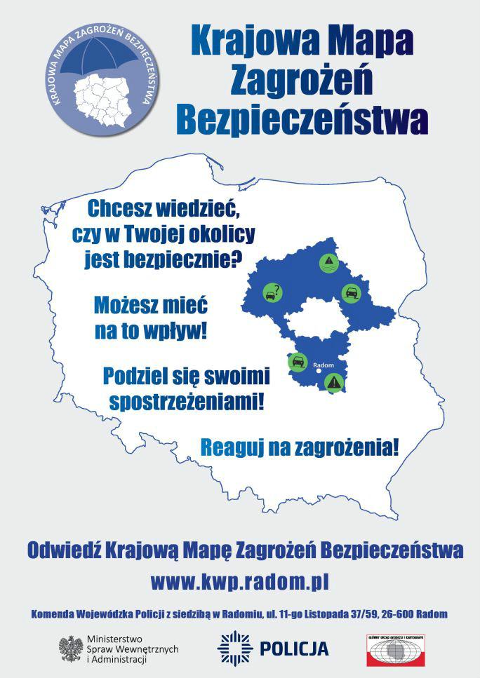 Krajowa Mapa Zagrożeń Bezpieczeństwa - www.kwp.radom.pl
