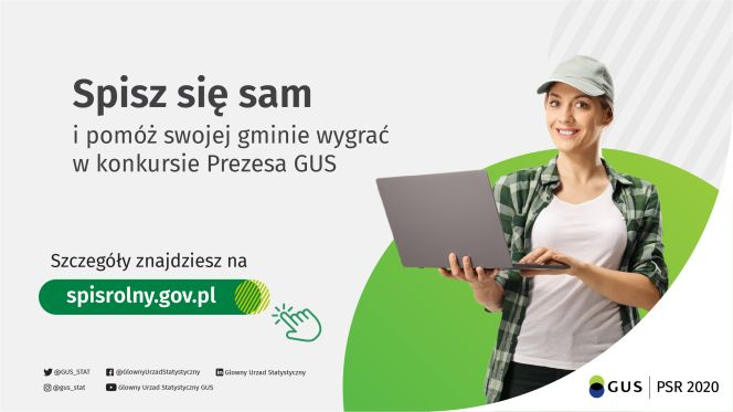 Konkurs na gminę o najwyższym odsetku spisanych gospodarstw rolnych w kanale samospisu